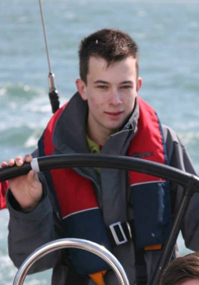 Paddy, match racing on the Solent under tuition of Sarah Ayling - British Olympic Gold medal winner.WOW