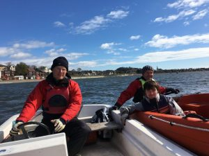 Craig, Rory & Chris on the Tay during training.